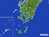 鹿児島県のアメダス実況(降水量)(2020年07月24日)