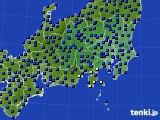 関東・甲信地方のアメダス実況(日照時間)(2020年07月24日)