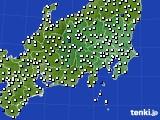 関東・甲信地方のアメダス実況(風向・風速)(2020年07月24日)