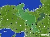 京都府のアメダス実況(風向・風速)(2020年07月24日)
