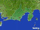 静岡県のアメダス実況(気温)(2020年07月25日)