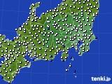 2020年07月25日の関東・甲信地方のアメダス(風向・風速)