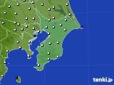 千葉県のアメダス実況(風向・風速)(2020年07月25日)