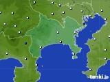 神奈川県のアメダス実況(風向・風速)(2020年07月25日)