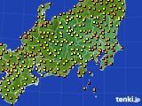 関東・甲信地方のアメダス実況(気温)(2020年07月26日)