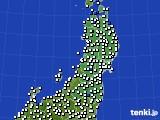 東北地方のアメダス実況(風向・風速)(2020年07月26日)
