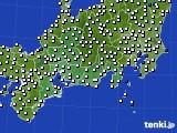 2020年07月26日の東海地方のアメダス(風向・風速)
