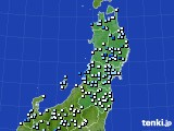 東北地方のアメダス実況(降水量)(2020年07月27日)