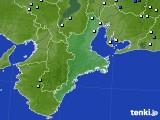 三重県のアメダス実況(降水量)(2020年07月27日)