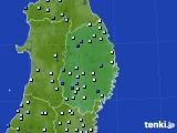 岩手県のアメダス実況(降水量)(2020年07月27日)