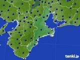 2020年07月27日の三重県のアメダス(日照時間)