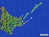 道東のアメダス実況(日照時間)(2020年07月27日)