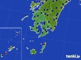 鹿児島県のアメダス実況(日照時間)(2020年07月27日)