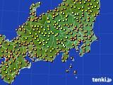 関東・甲信地方のアメダス実況(気温)(2020年07月27日)