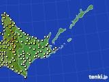 道東のアメダス実況(気温)(2020年07月27日)