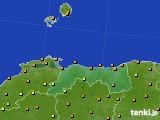鳥取県のアメダス実況(気温)(2020年07月27日)