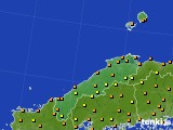 島根県のアメダス実況(気温)(2020年07月27日)