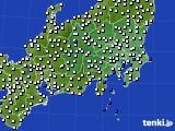 2020年07月27日の関東・甲信地方のアメダス(風向・風速)
