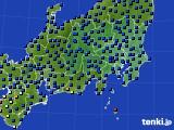 2020年07月28日の関東・甲信地方のアメダス(日照時間)