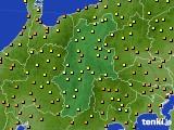 長野県のアメダス実況(気温)(2020年07月28日)
