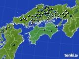 四国地方のアメダス実況(降水量)(2020年07月29日)