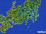 2020年07月29日の関東・甲信地方のアメダス(日照時間)