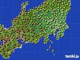 関東・甲信地方のアメダス実況(気温)(2020年07月29日)