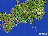 東海地方のアメダス実況(気温)(2020年07月29日)