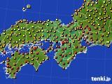 2020年07月29日の近畿地方のアメダス(気温)