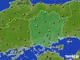 岡山県のアメダス実況(気温)(2020年07月29日)