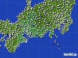2020年07月29日の東海地方のアメダス(風向・風速)
