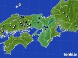 近畿地方のアメダス実況(降水量)(2020年07月30日)