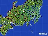 2020年07月30日の関東・甲信地方のアメダス(日照時間)