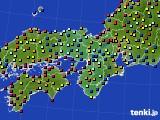 近畿地方のアメダス実況(日照時間)(2020年07月30日)