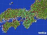 近畿地方のアメダス実況(気温)(2020年07月30日)