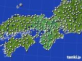 近畿地方のアメダス実況(風向・風速)(2020年07月30日)