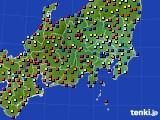 関東・甲信地方のアメダス実況(日照時間)(2020年07月31日)