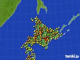 北海道地方のアメダス実況(気温)(2020年07月31日)