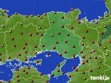 兵庫県のアメダス実況(気温)(2020年07月31日)