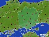 岡山県のアメダス実況(気温)(2020年07月31日)