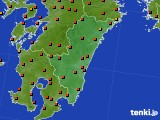 宮崎県のアメダス実況(気温)(2020年07月31日)