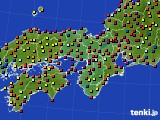 近畿地方のアメダス実況(日照時間)(2020年08月01日)