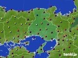 兵庫県のアメダス実況(日照時間)(2020年08月01日)