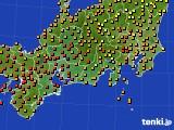 東海地方のアメダス実況(気温)(2020年08月01日)
