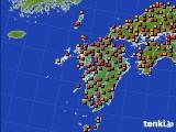 九州地方のアメダス実況(気温)(2020年08月01日)