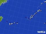 沖縄地方のアメダス実況(風向・風速)(2020年08月01日)