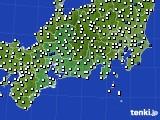 東海地方のアメダス実況(風向・風速)(2020年08月01日)