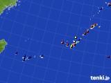沖縄地方のアメダス実況(日照時間)(2020年08月02日)