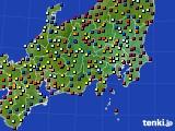 2020年08月02日の関東・甲信地方のアメダス(日照時間)