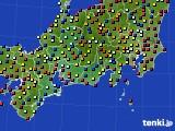 東海地方のアメダス実況(日照時間)(2020年08月02日)